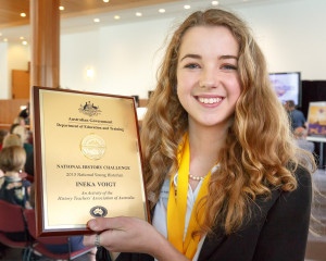 Ineka Voight, 2015 National Young Historian