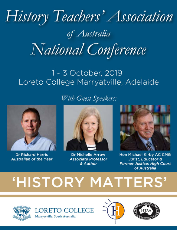 2019 History Conference - Registrations and Program