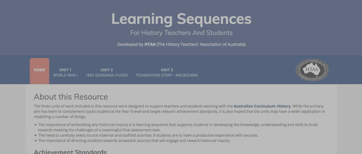 Learning Sequences for History Teachers and Students